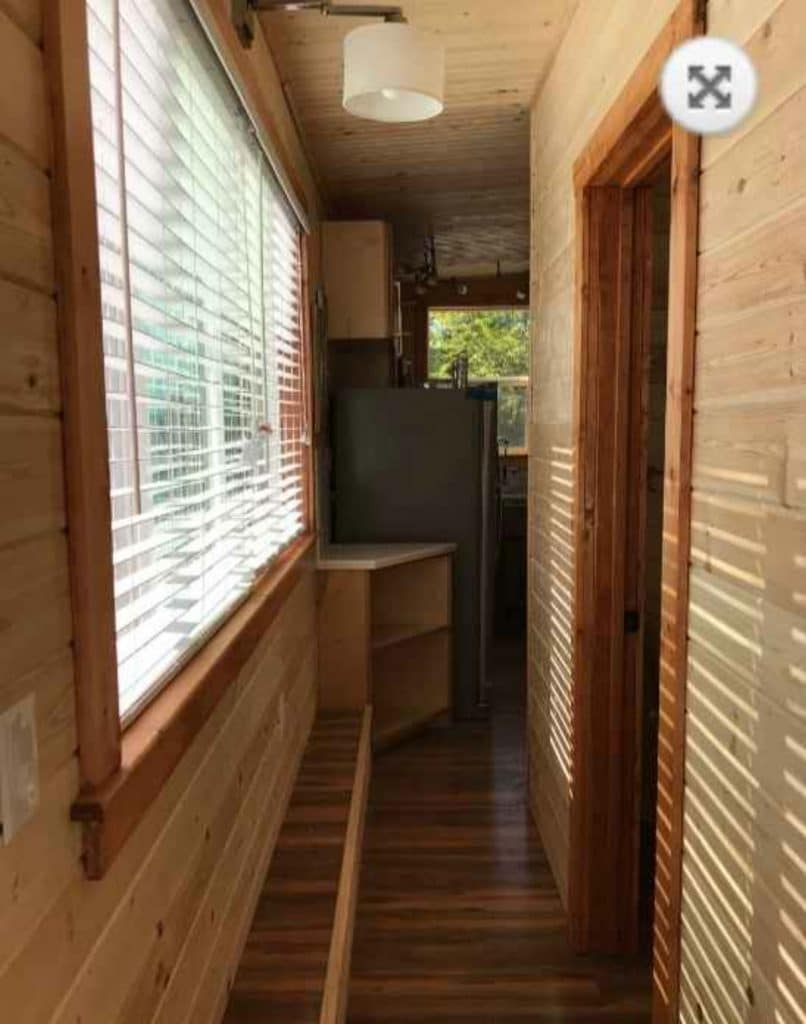 Hall in tiny home