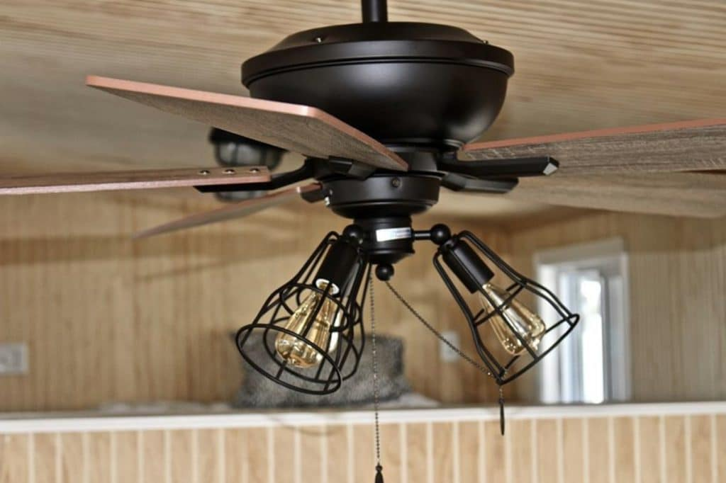 Industrial style ceiling fan