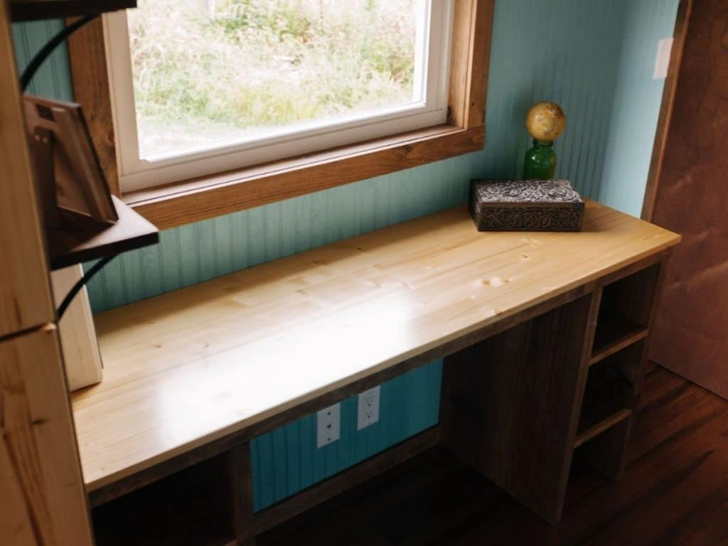 Work space under tiny window