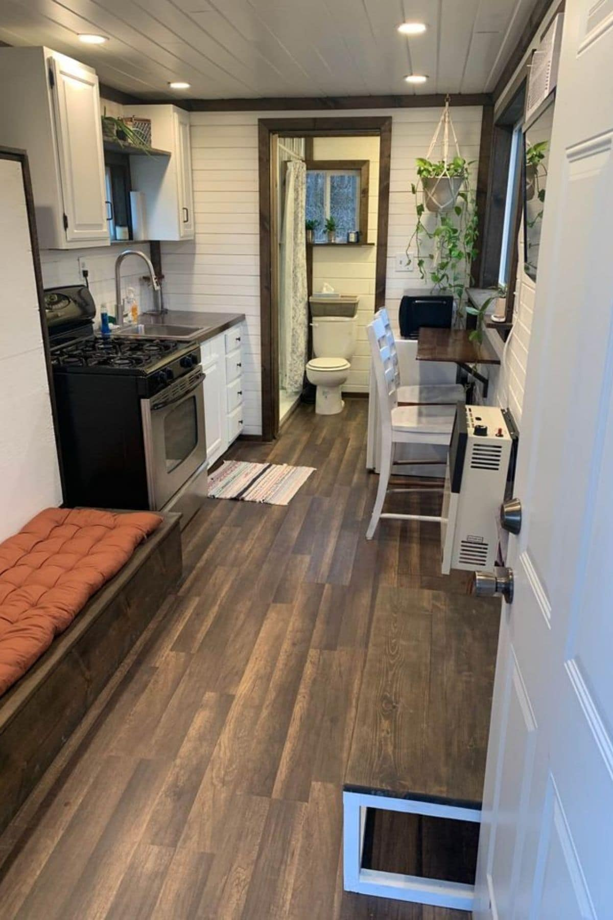 View from front door into tiny home