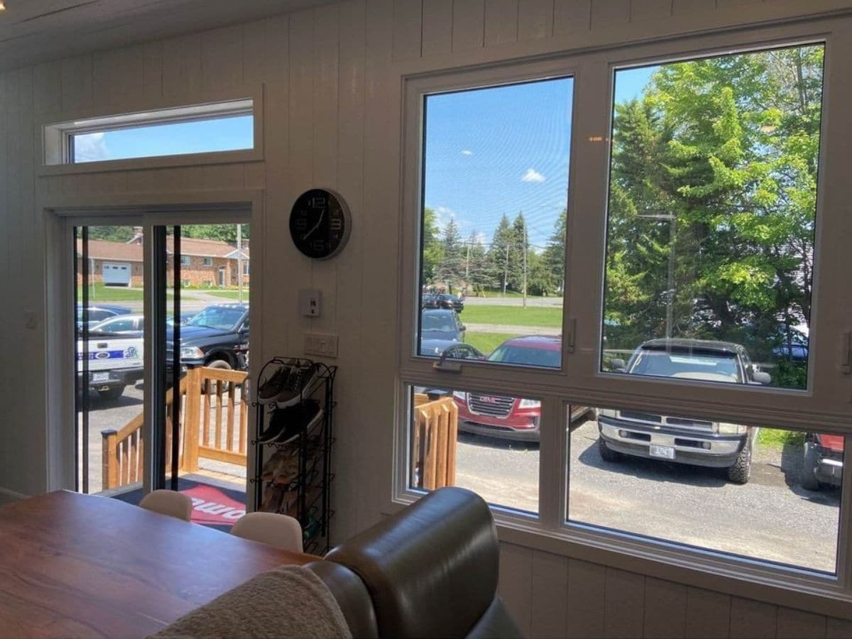 French doors next to large picture window