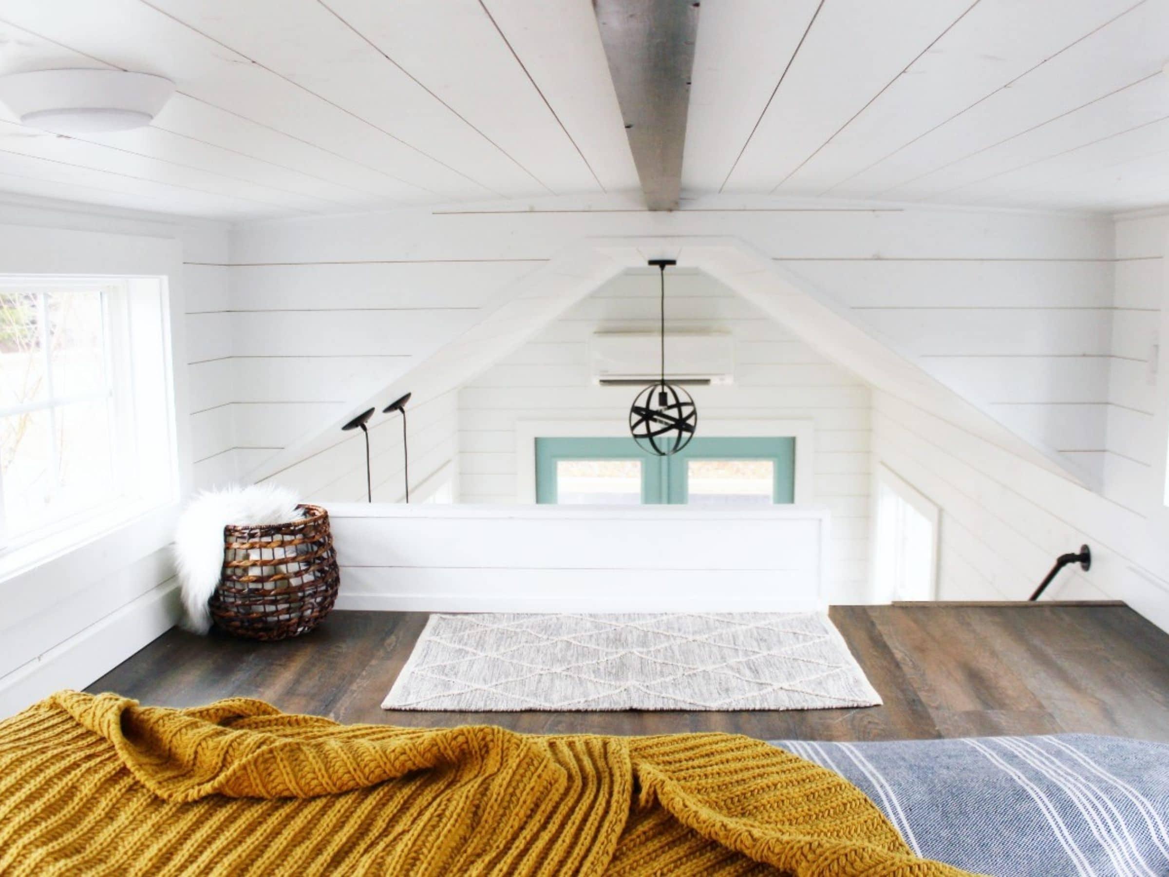 View across loft to front door