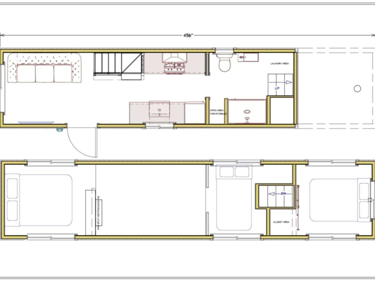 Tiny home blueprints