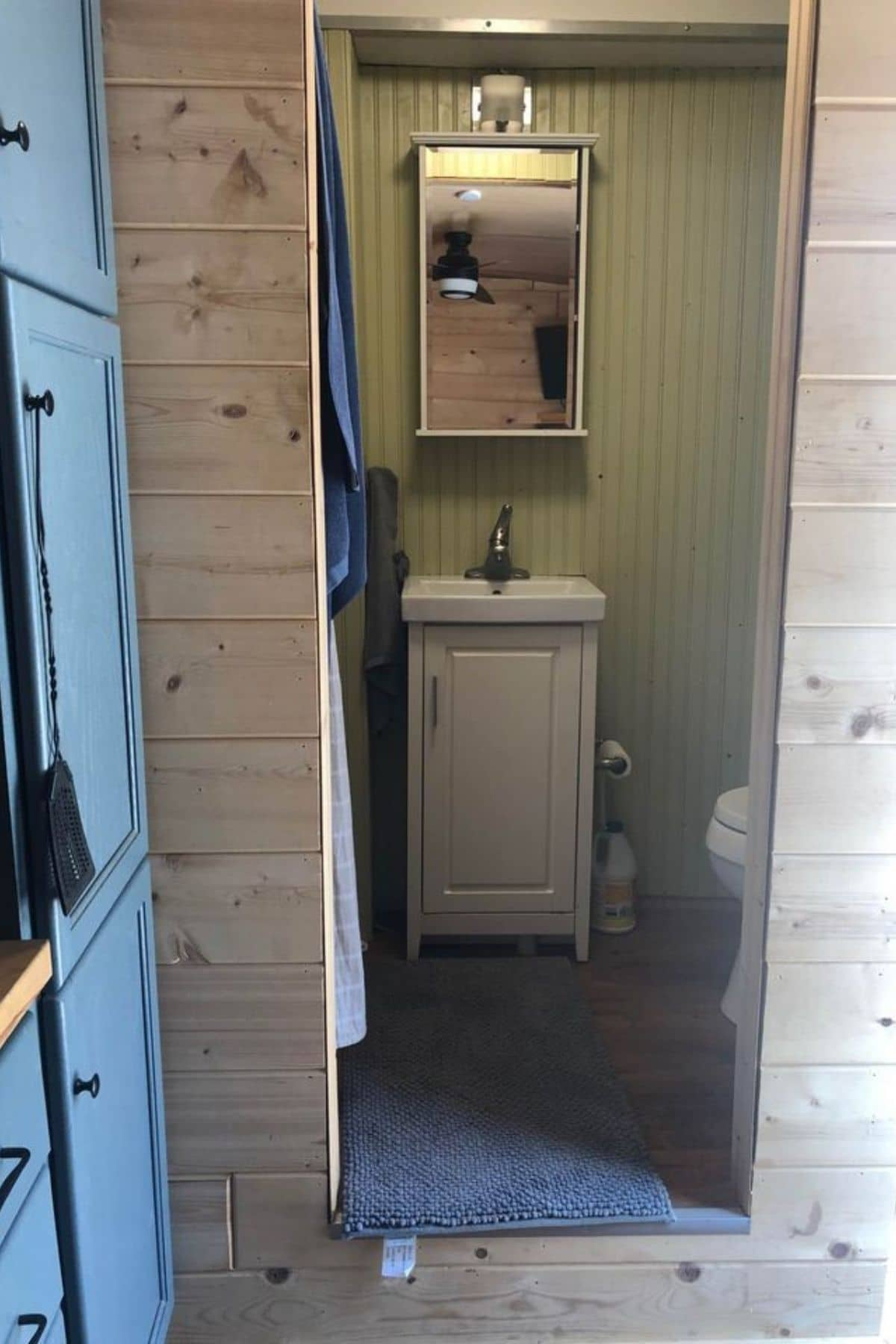 View into bathroom from kitchenette