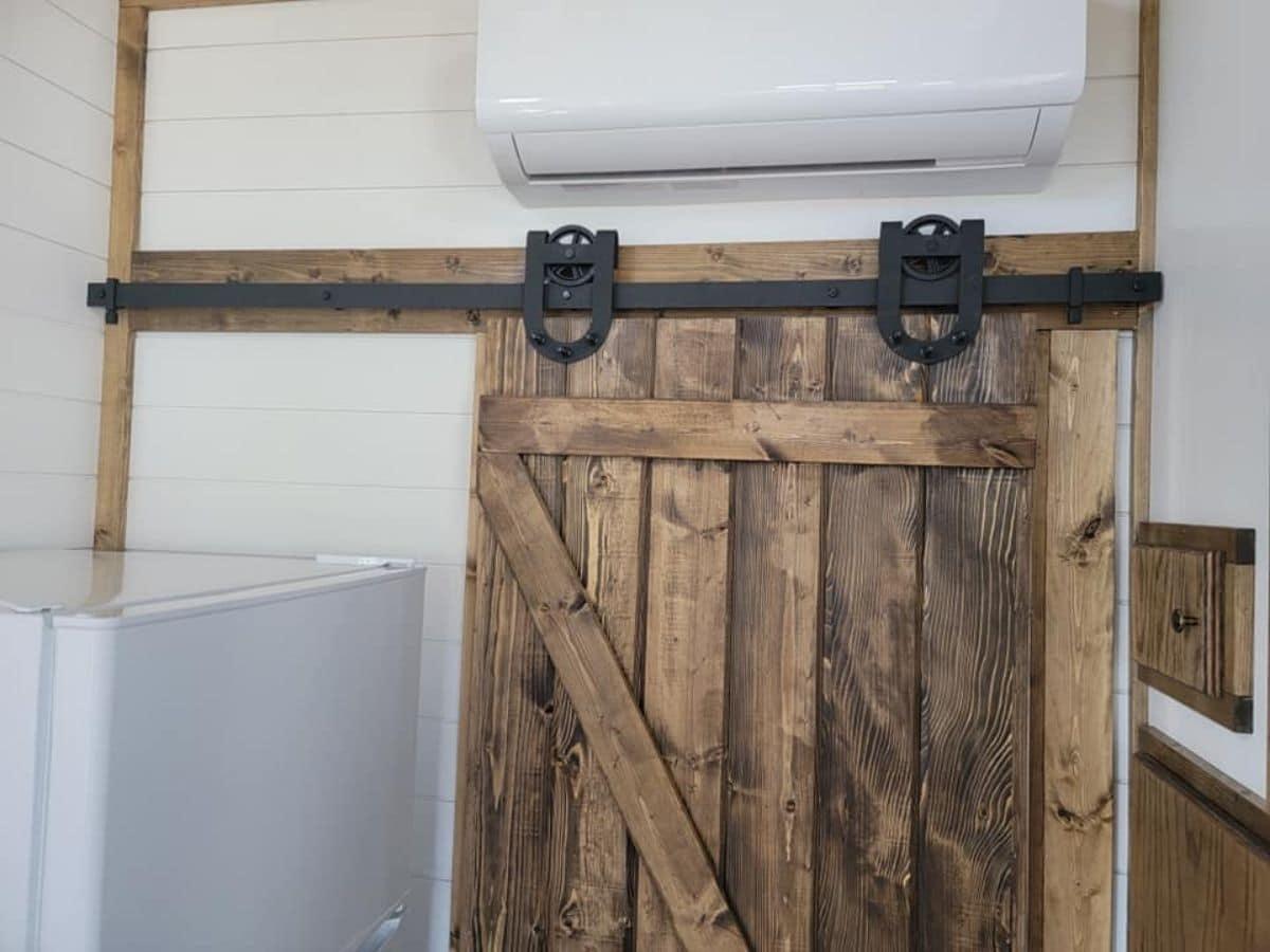 barn door with black hardware