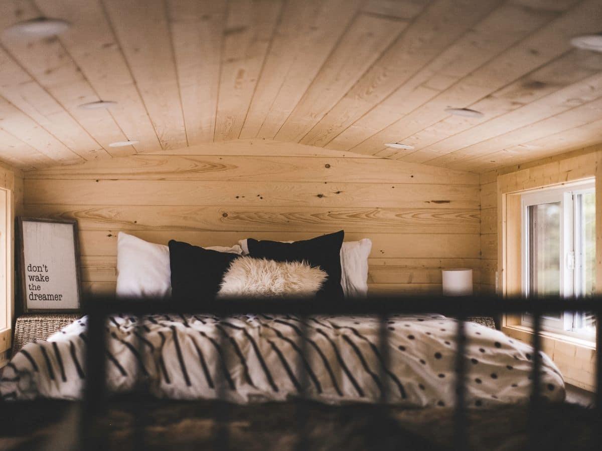 loft bed seen through railing